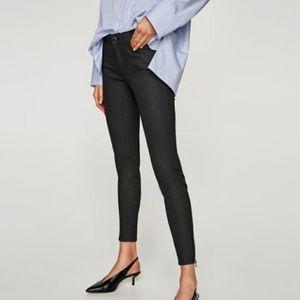 Zara coated skinny jeans NWT